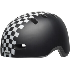 Bell Lil Ripper Casque Enfant, matte black/wh check